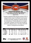 2012 Topps #105  Knowshon Moreno  Back Thumbnail