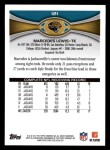 2012 Topps #121  Marcedes Lewis  Back Thumbnail