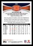 2012 Topps #135  Jay Cutler  Back Thumbnail