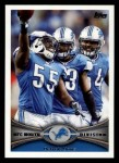 2012 Topps #147   -  Stephen Tulloch Detroit Lions Front Thumbnail
