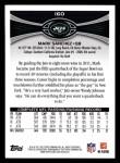 2012 Topps #160  Mark Sanchez  Back Thumbnail