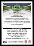 2012 Topps #161   -  Mashawn Lynch / Sidney Rice Seattle Seahawks Back Thumbnail