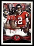2012 Topps #166   -  Matt Ryan / Roddy White Atlanta Falcons Front Thumbnail