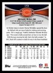 2012 Topps #173  Michael Bush  Back Thumbnail