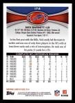 2012 Topps #174  Nick Barnett  Back Thumbnail
