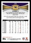 2012 Topps #175  Ed Reed  Back Thumbnail