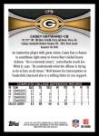 2012 Topps #179  Casey Hayward  Back Thumbnail