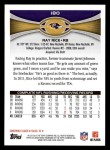 2012 Topps #180  Ray Rice  Back Thumbnail