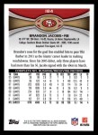 2012 Topps #184  Brandon Jacobs  Back Thumbnail