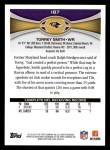 2012 Topps #187  Torrey Smith  Back Thumbnail