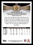 2012 Topps #196  Curtis Lofton  Back Thumbnail