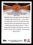 2012 Topps #198  Joe Thomas  Back Thumbnail