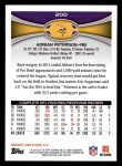 2012 Topps #200  Adrian Peterson  Back Thumbnail