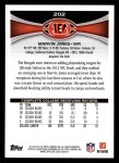 2012 Topps #202  Marvin Jones  Back Thumbnail