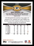 2012 Topps #205  Greg Jennings  Back Thumbnail