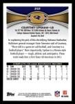 2012 Topps #212  Courtney Upshaw  Back Thumbnail