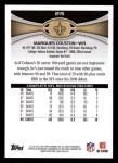 2012 Topps #215  Marques Colston  Back Thumbnail