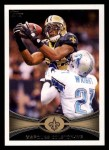 2012 Topps #215  Marques Colston  Front Thumbnail