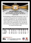 2012 Topps #223  Antonio Brown  Back Thumbnail