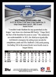 2012 Topps #225  Matthew Stafford  Back Thumbnail
