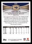 2012 Topps #233  Chris Long  Back Thumbnail