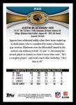 2012 Topps #240  Justin Blackmon  Back Thumbnail