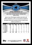 2012 Topps #241  James Anderson  Back Thumbnail