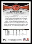 2012 Topps #248  Bernard Scott  Back Thumbnail