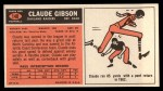 1965 Topps #140  Claude Gibson  Back Thumbnail