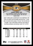 2012 Topps #249  James Jones  Back Thumbnail
