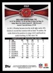 2012 Topps #262  Kellen Winslow  Back Thumbnail