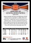 2012 Topps #264  Johnny Knox  Back Thumbnail