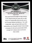 2012 Topps #269  Nick Mangold  Back Thumbnail