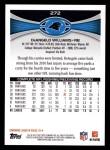 2012 Topps #272  DeAngelo Williams  Back Thumbnail