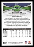 2012 Topps #277  Matt Flynn  Back Thumbnail