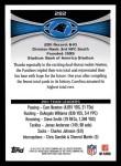 2012 Topps #282   -  Cam Newton / Jonathan Stewart Carolina Panthers Back Thumbnail