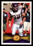 2012 Topps #291  Toby Gerhart  Front Thumbnail