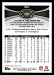 2012 Topps #304  LaDainian Tomlinson  Back Thumbnail