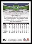 2012 Topps #307  Tarvaris Jackson  Back Thumbnail