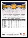 2012 Topps #309  Antwan Barnes  Back Thumbnail