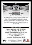 2012 Topps #311   -  Carson Palmer Oakland Raiders Back Thumbnail