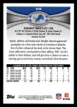 2012 Topps #318  Dwight Bentley  Back Thumbnail