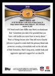 2012 Topps #319  Matt Kalil  Back Thumbnail