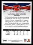 2012 Topps #323  Aaron Hernandez  Back Thumbnail