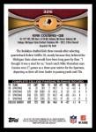 2012 Topps #326  Kirk Cousins  Back Thumbnail