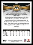 2012 Topps #332  Nick Perry  Back Thumbnail