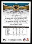 2012 Topps #333  Laurent Robinson  Back Thumbnail