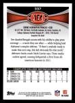 2012 Topps #337  Dre Kirkpatrick  Back Thumbnail