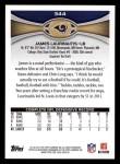 2012 Topps #344  James Laurinaitis  Back Thumbnail
