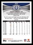 2012 Topps #353  Dwight Freeney  Back Thumbnail